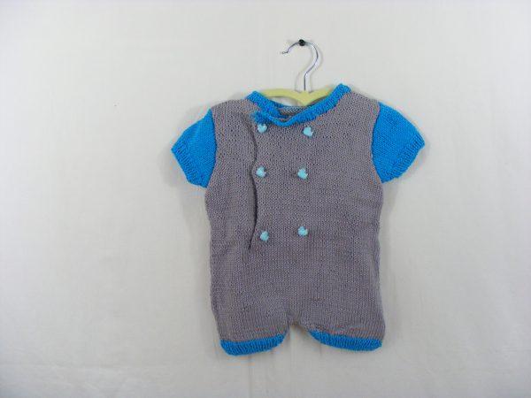 Combishort grise et bleue turquoise