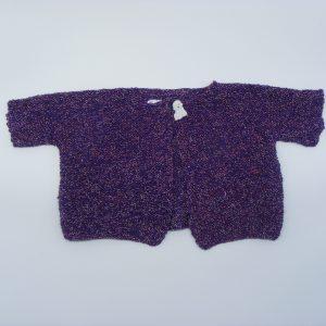 Gilet violet à manches courtes
