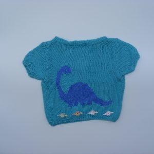 T-shirt bleu dinosaure