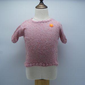 T-shirt rose à reflet