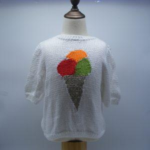 T-shirt au motif d'un cornet de glace