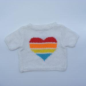 T-shirt de couleur coeur