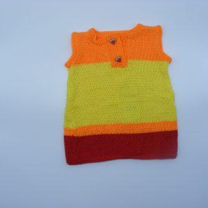 Robe aux 3 couleurs pastèque