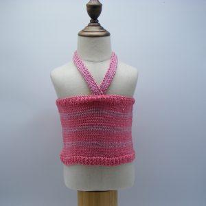 Top à rayures rose