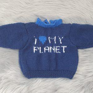 Pull bleu I Love my planet