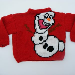Pull rouge Olaf